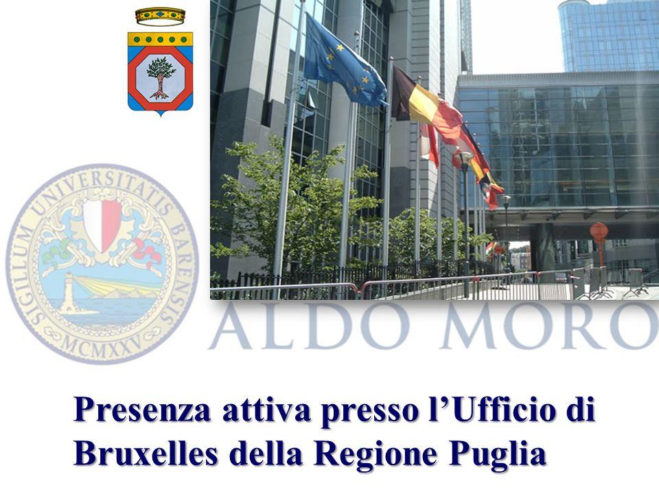 Presenza attiva presso lUfficio di Bruxelles della Regione Puglia