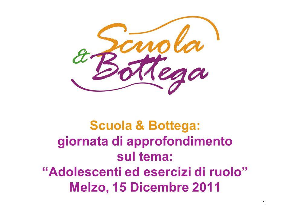 1 Scuola & Bottega: giornata di approfondimento sul tema: Adolescenti ed esercizi di ruolo Melzo, 15 Dicembre 2011