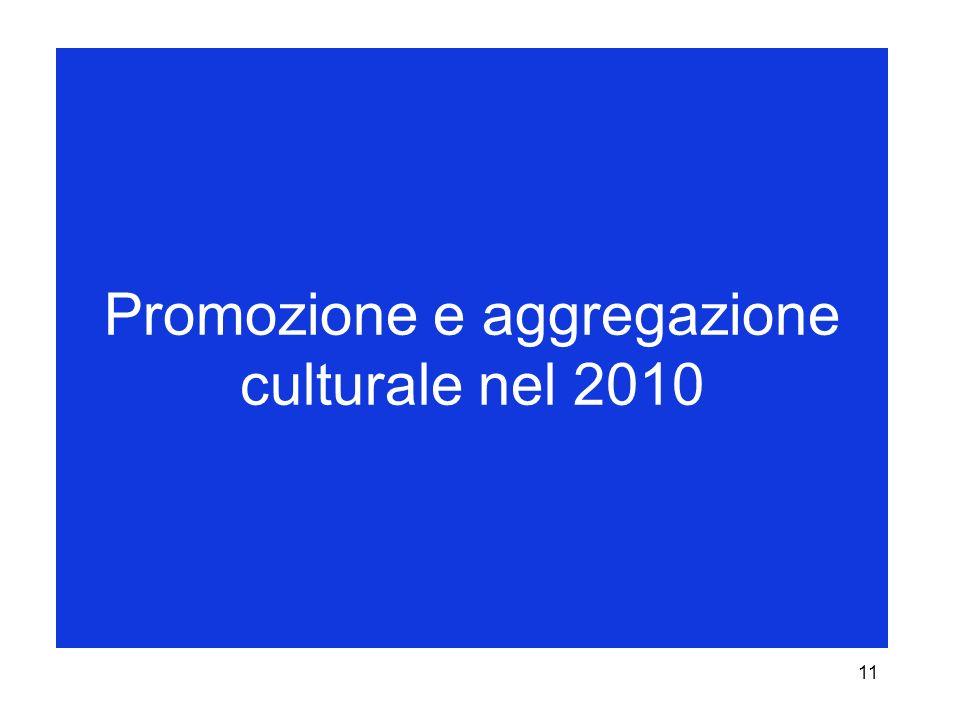 11 Promozione e aggregazione culturale nel 2010