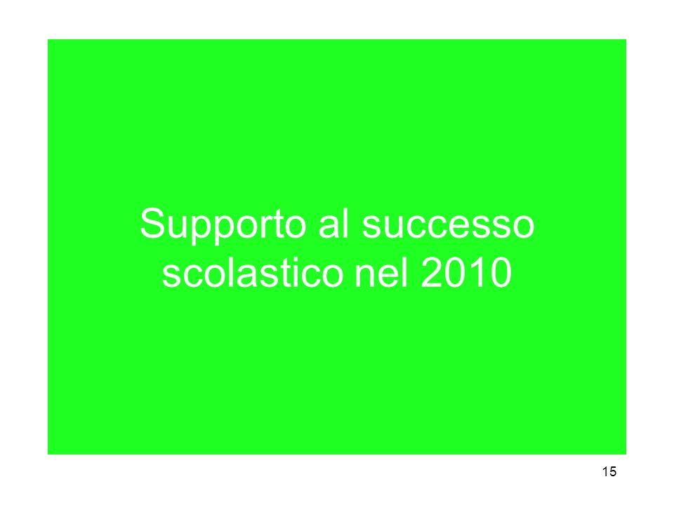 15 Supporto al successo scolastico nel 2010