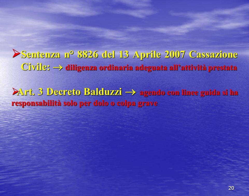 Sentenza n° 8826 del 13 Aprile 2007 Cassazione Civile: diligenza ordinaria adeguata allattività prestata Sentenza n° 8826 del 13 Aprile 2007 Cassazion