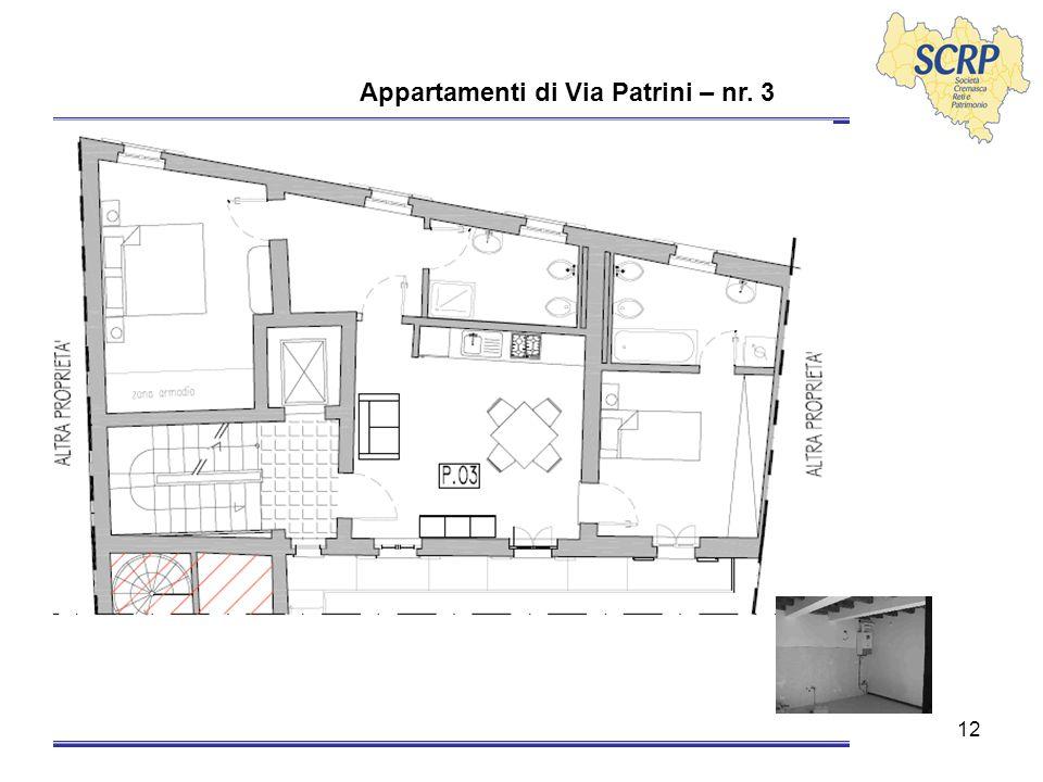 12 Appartamenti di Via Patrini – nr. 3