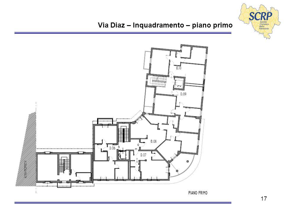 17 Via Diaz – Inquadramento – piano primo
