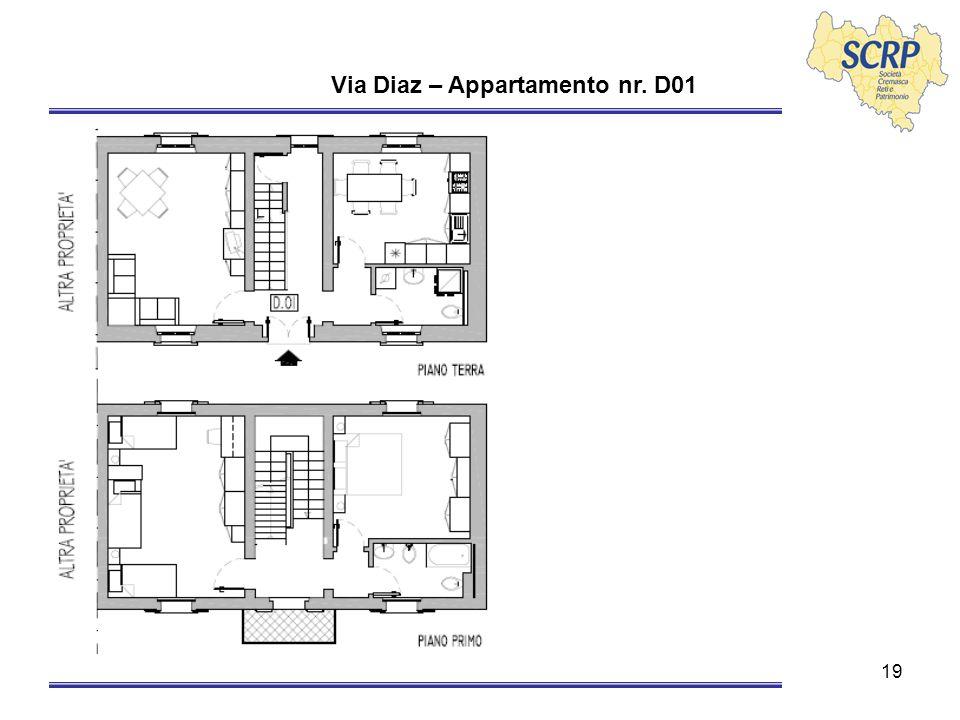 19 Via Diaz – Appartamento nr. D01