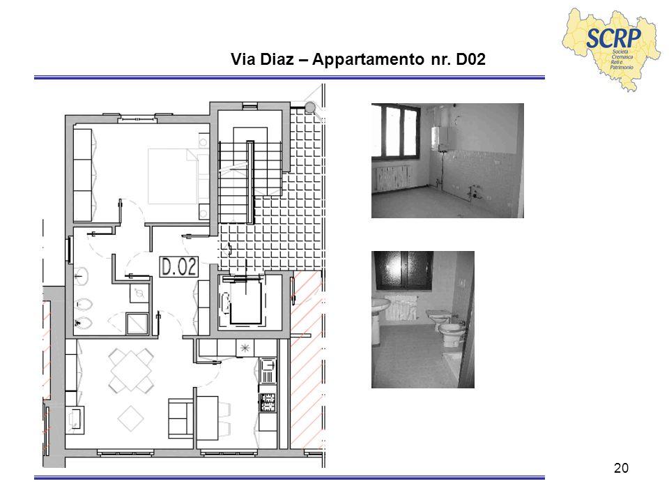 20 Via Diaz – Appartamento nr. D02