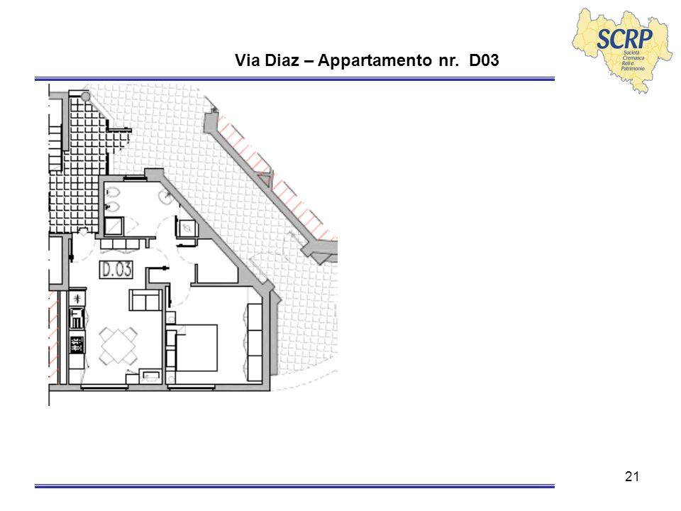 21 Via Diaz – Appartamento nr. D03