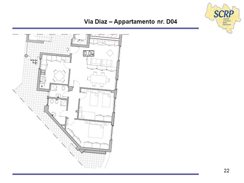 22 Via Diaz – Appartamento nr. D04