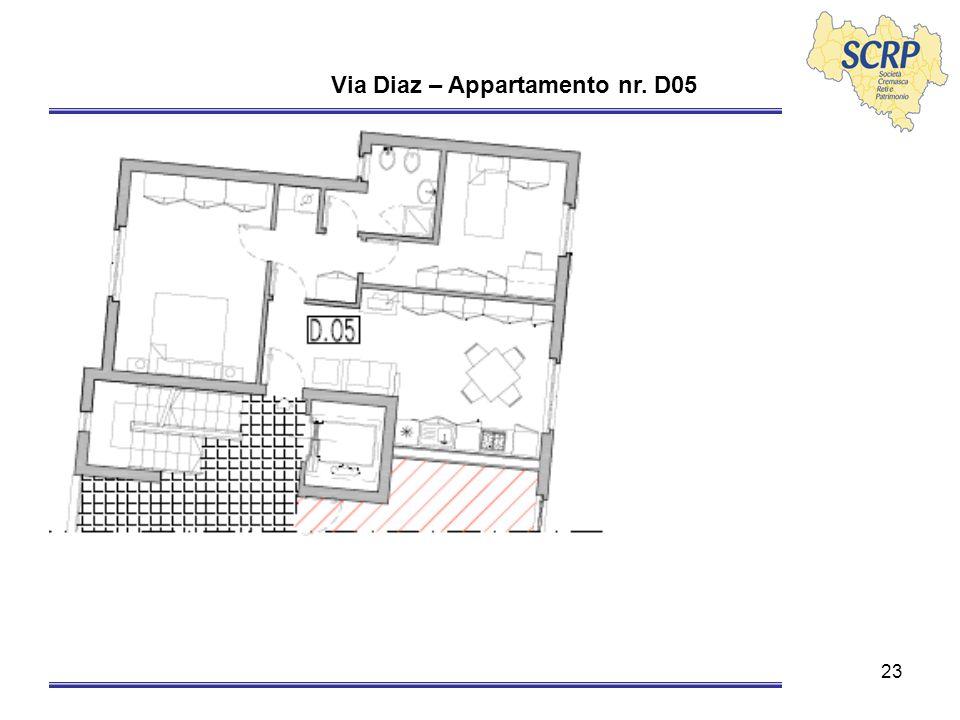 23 Via Diaz – Appartamento nr. D05