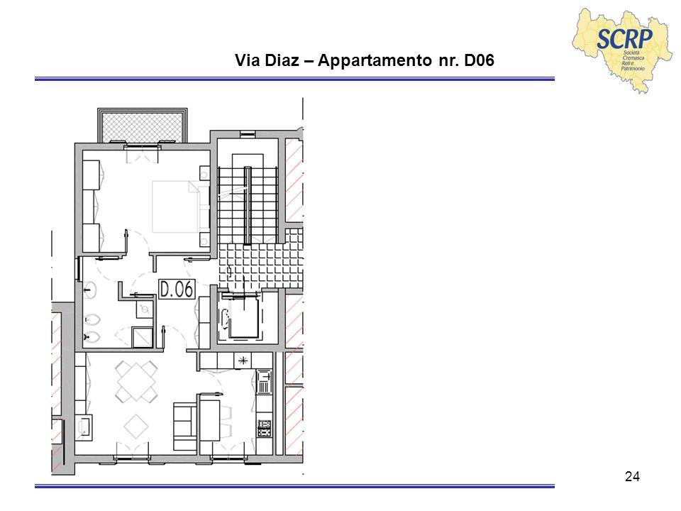 24 Via Diaz – Appartamento nr. D06