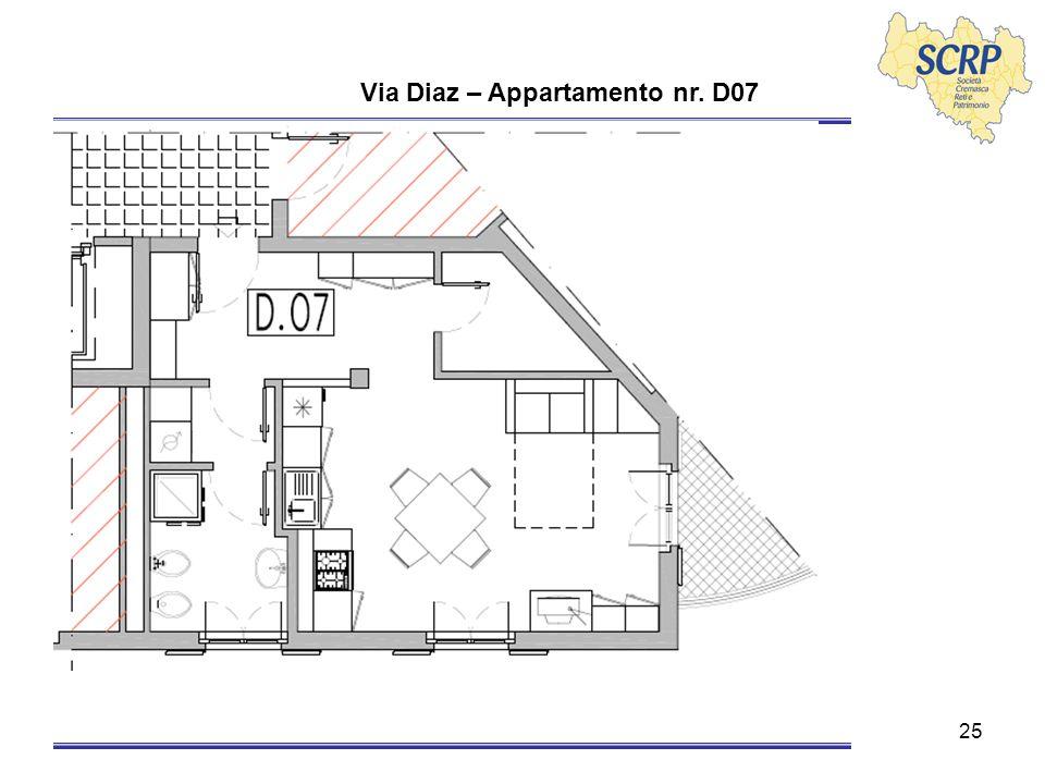 25 Via Diaz – Appartamento nr. D07