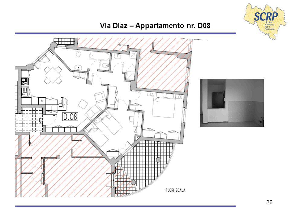 26 Via Diaz – Appartamento nr. D08