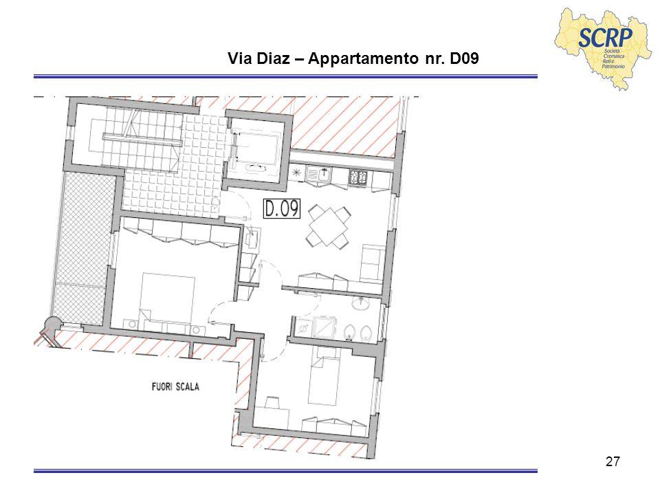 27 Via Diaz – Appartamento nr. D09