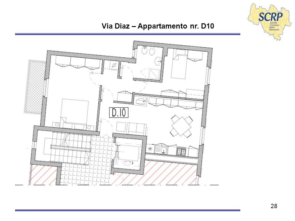 28 Via Diaz – Appartamento nr. D10