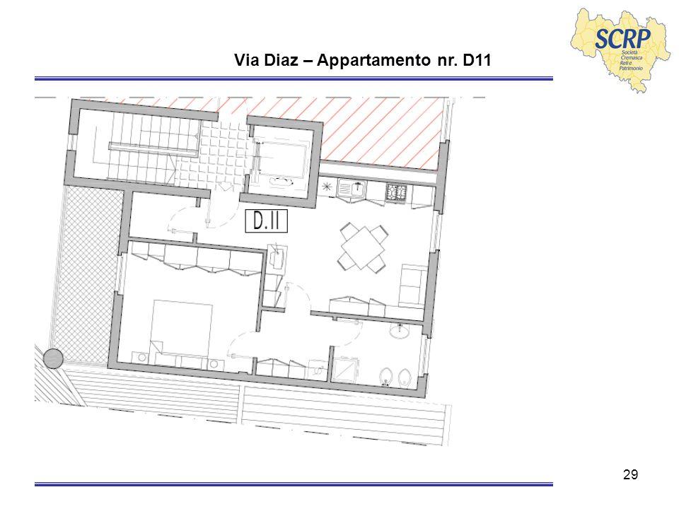 29 Via Diaz – Appartamento nr. D11