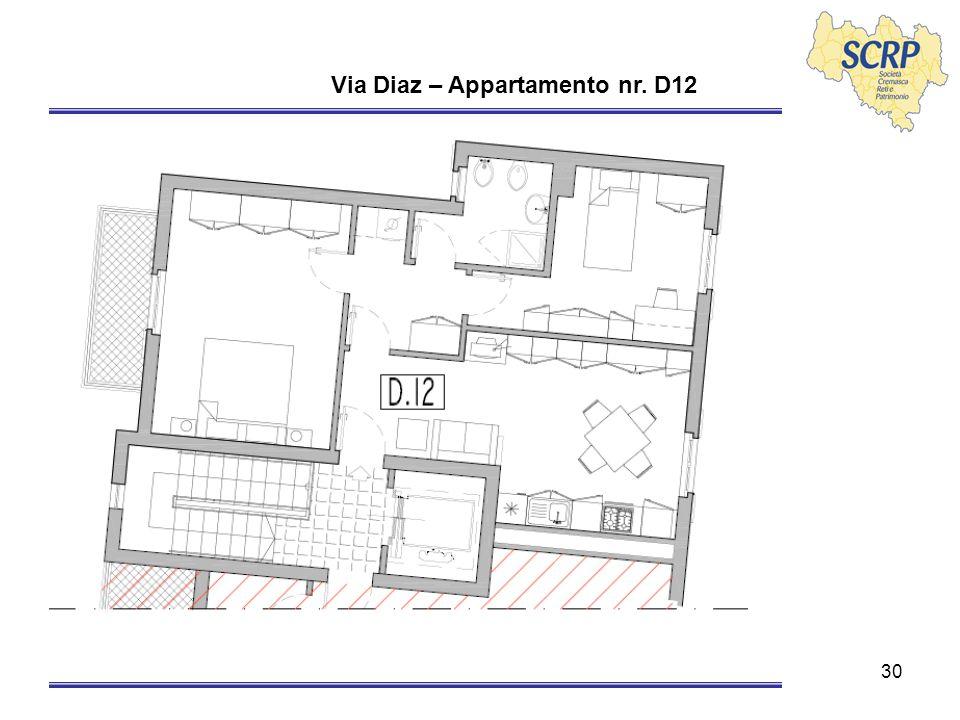 30 Via Diaz – Appartamento nr. D12