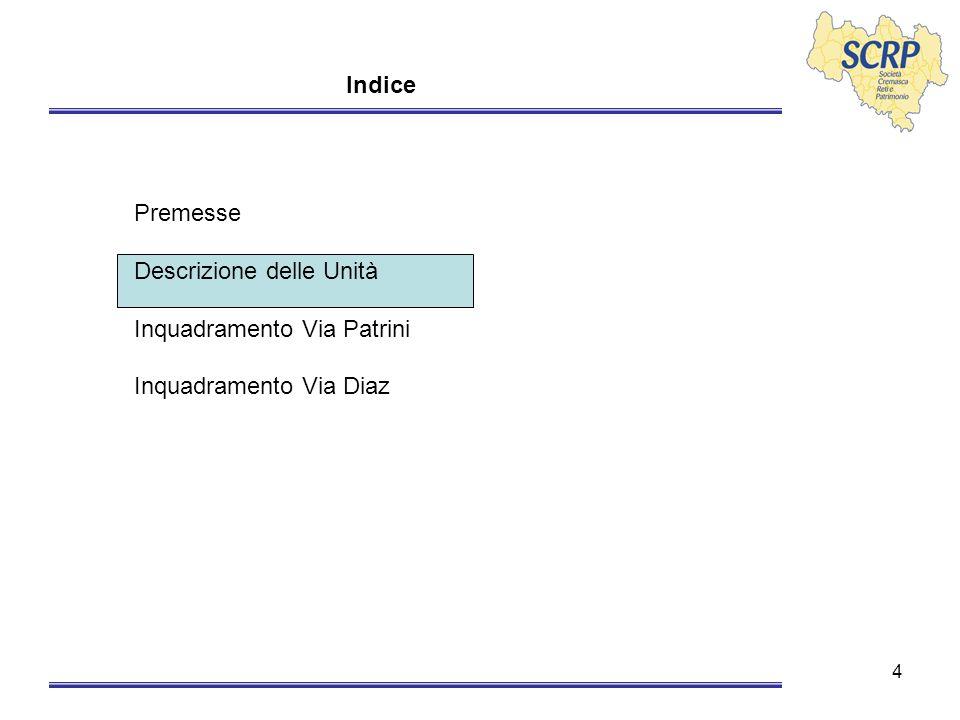 15 Via Diaz – Inquadramento - Interrato Cantine – una per ciascun appartamento Posti auto nr.