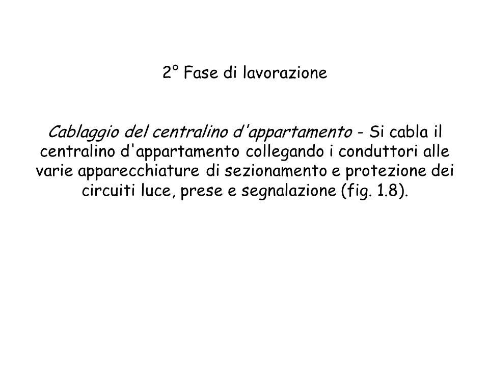 Fig. 1.7- Collegamento e montaggio degli apparecchi sui supporti e fissaggio della placca di finitura