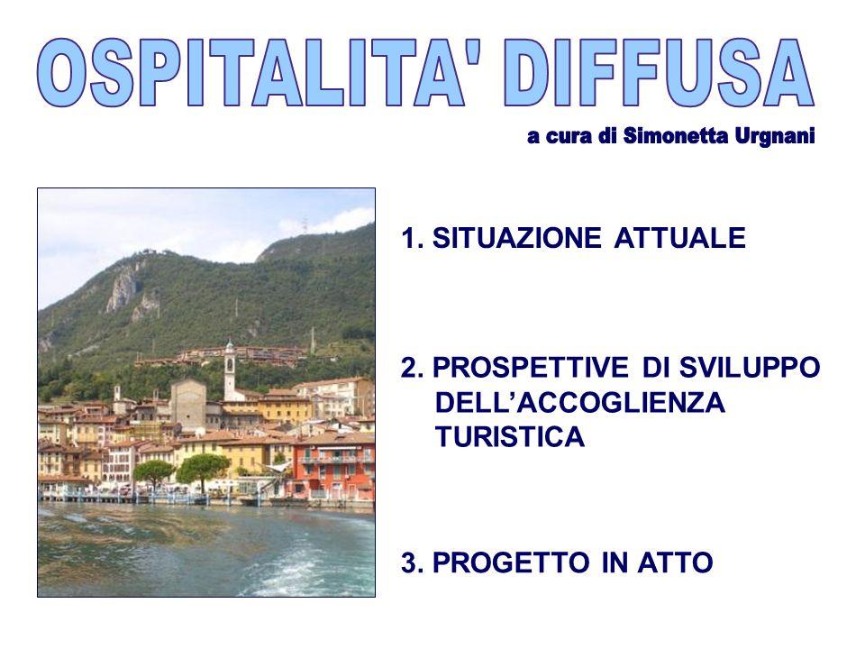 1. SITUAZIONE ATTUALE 2. PROSPETTIVE DI SVILUPPO DELLACCOGLIENZA TURISTICA 3. PROGETTO IN ATTO