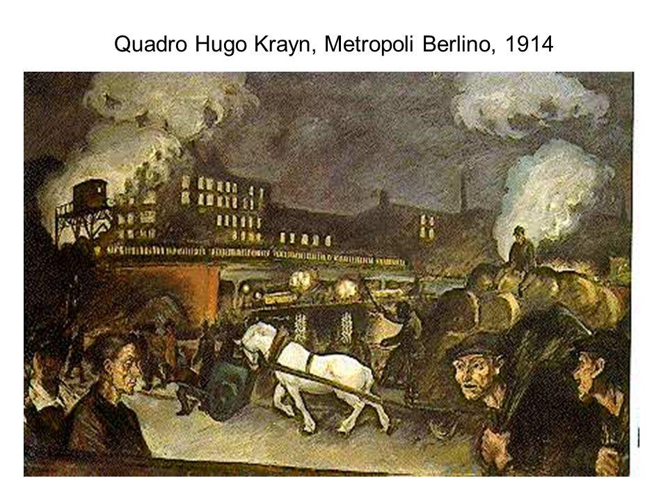 Quadro Hugo Krayn, Metropoli Berlino, 1914