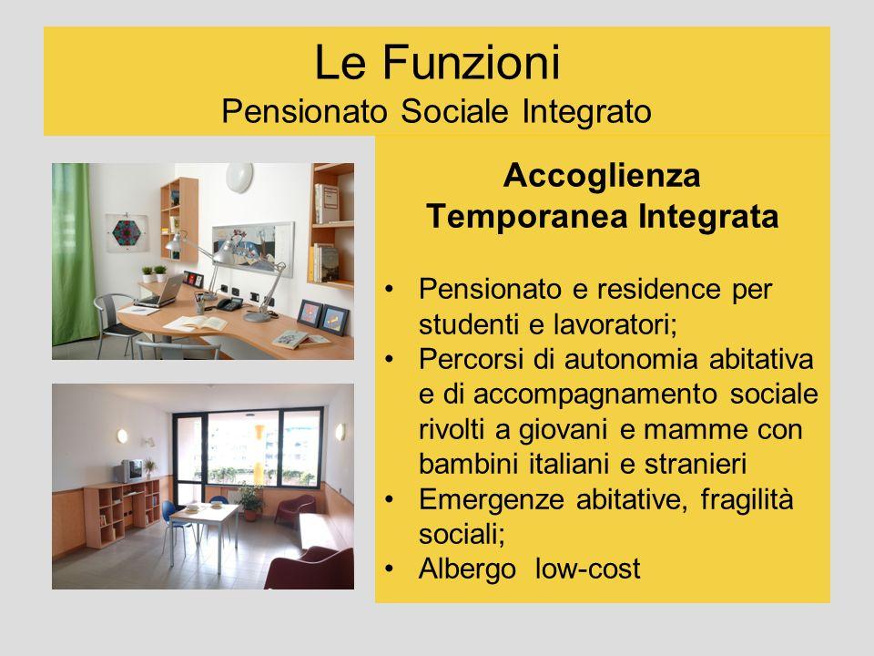 Le Funzioni Pensionato Sociale Integrato Accoglienza Temporanea Integrata Pensionato e residence per studenti e lavoratori; Percorsi di autonomia abit