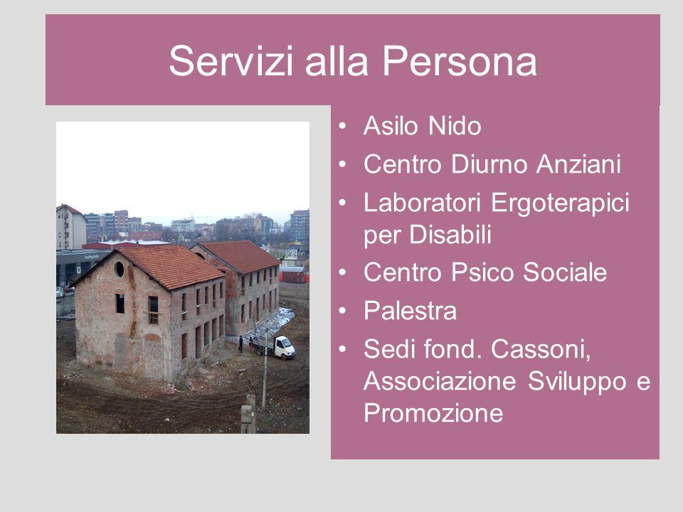 Servizi alla Persona Asilo Nido Centro Diurno Anziani Laboratori Ergoterapici per Disabili Centro Psico Sociale Palestra Sedi fond. Cassoni, Associazi