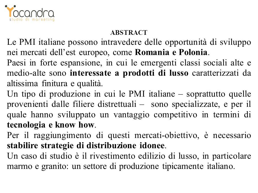 ABSTRACT Le PMI italiane possono intravedere delle opportunità di sviluppo nei mercati dellest europeo, come Romania e Polonia.