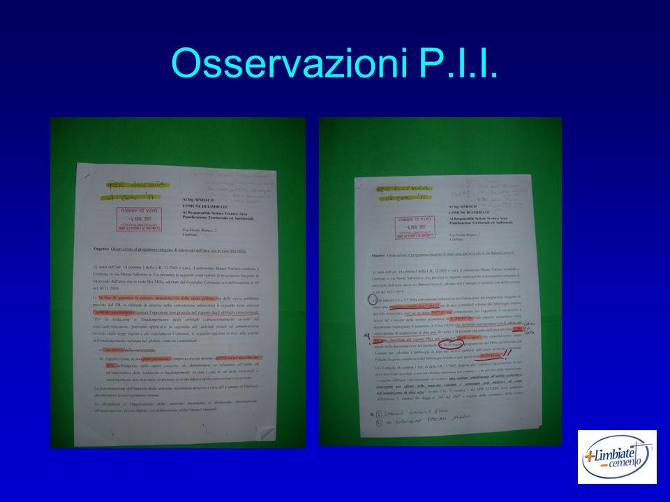 Osservazioni P.I.I.