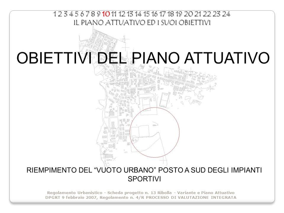 1 2 3 4 5 6 7 8 9 10 11 12 13 14 15 16 17 18 19 20 21 22 23 24 IL PIANO ATTUATIVO ED I SUOI OBIETTIVI Regolamento Urbanistico - Scheda progetto n.