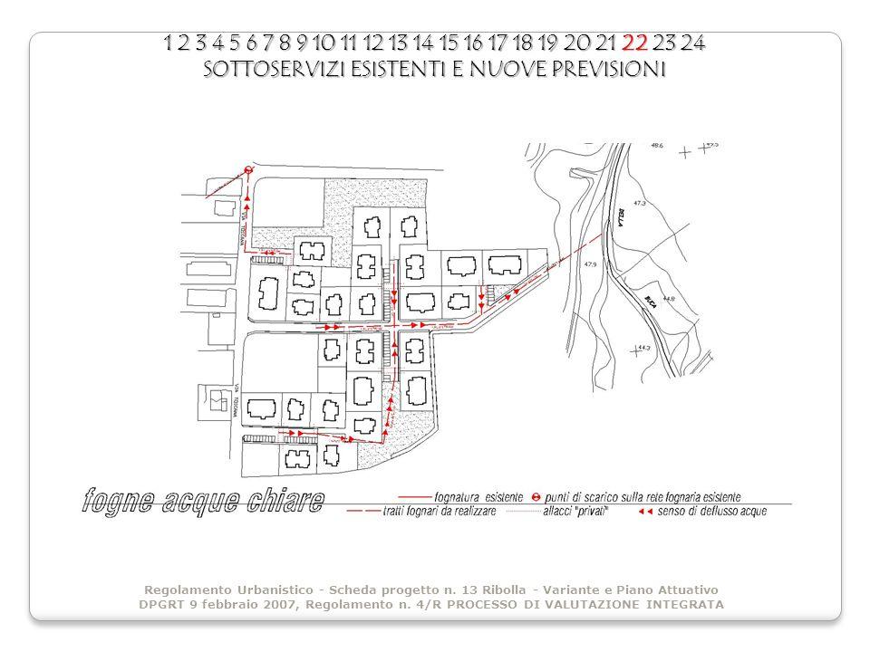 1 2 3 4 5 6 7 8 9 10 11 12 13 14 15 16 17 18 19 20 21 22 23 24 SOTTOSERVIZI ESISTENTI E NUOVE PREVISIONI Regolamento Urbanistico - Scheda progetto n.