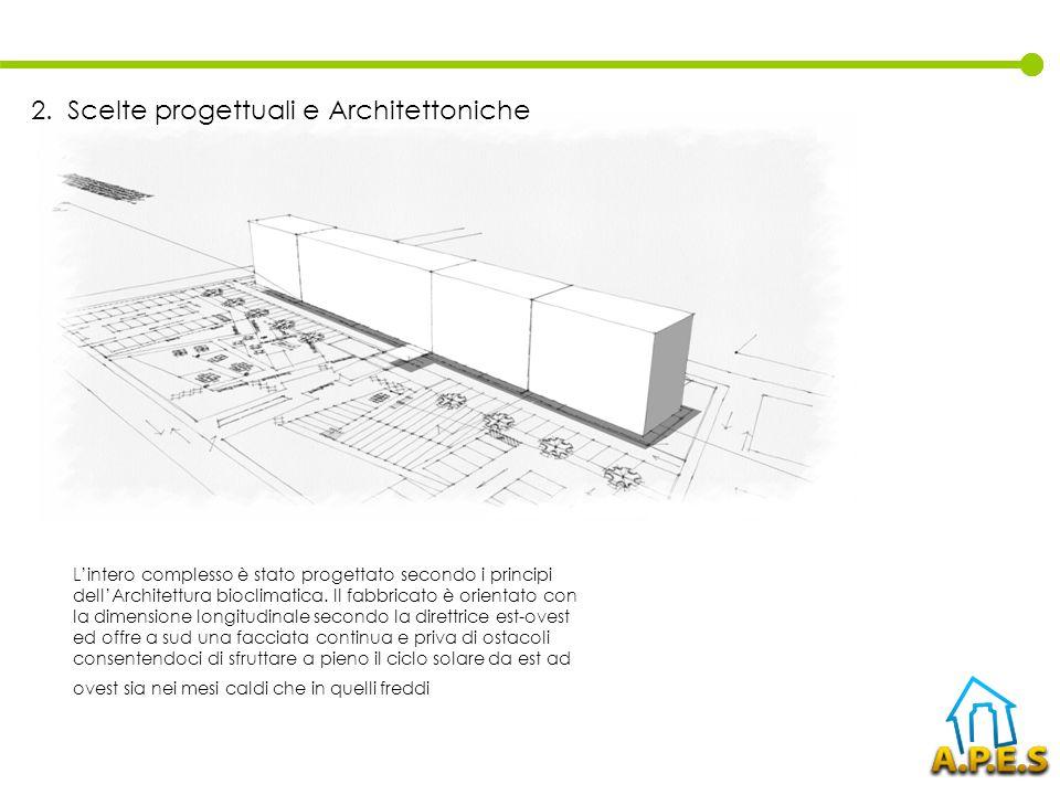 Lintero complesso è stato progettato secondo i principi dellArchitettura bioclimatica. Il fabbricato è orientato con la dimensione longitudinale secon