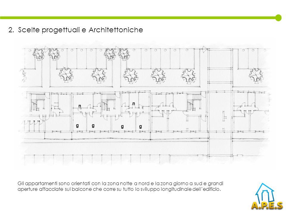 Sui balconi sono applicati sistemi frangisole scorrevoli regolabili dagli occupanti in modo da proteggere le aperture dallinsolazione estiva e di essere impacchettato in periodo invernale 2.
