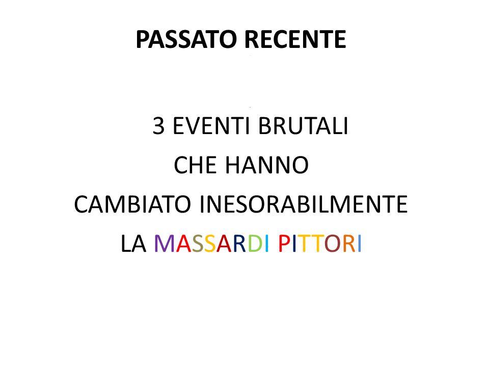 PASSATO RECENTE.. 3 EVENTI BRUTALI CHE HANNO CAMBIATO INESORABILMENTE LA MASSARDI PITTORI