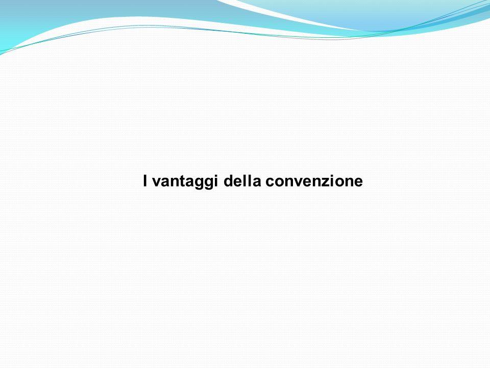 I vantaggi della convenzione