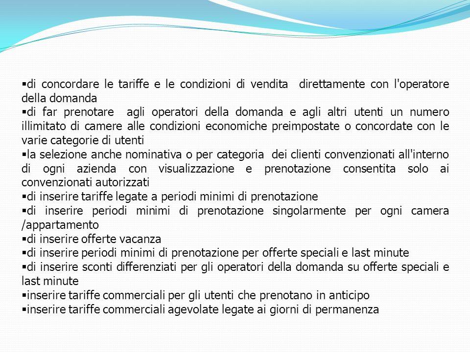 di concordare le tariffe e le condizioni di vendita direttamente con l'operatore della domanda di far prenotare agli operatori della domanda e agli al