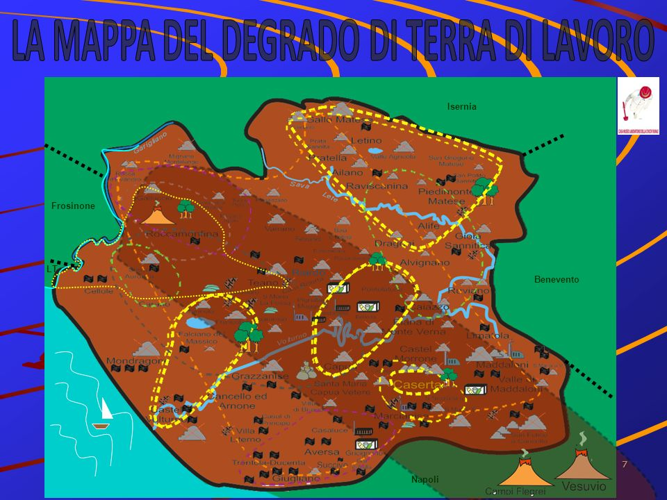 8 GIUSEPPE MESSINA DEGRADO AMBIENTALE E PAESAGGISTICO IN PROVINCIA DI CASERTA RIFIUTI 8 PIATTAFORME CONAI (Bellona, Casapulla, Caserta, Gricignano, Marcianise, Pastorano, San Nicola L.S, S.Felice a c., Pastorano) 1 DISCARICA ATTIVA (San Tammaro) 1 GASSIFICATORE IN PROGRAMMA A CAPUA 1 INCENERITORE A MARCIANISE A SERVIZIO DELLIMPIANTO DI DEPURAZIONE (mai usato) 1 STABILIMENTO DI TRITOVAGLIATURA E IMBALLAGGIO RIFIUTI (EX CDR) A SANTA MARIA C.V.