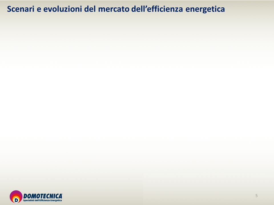 5 Scenari e evoluzioni del mercato dellefficienza energetica
