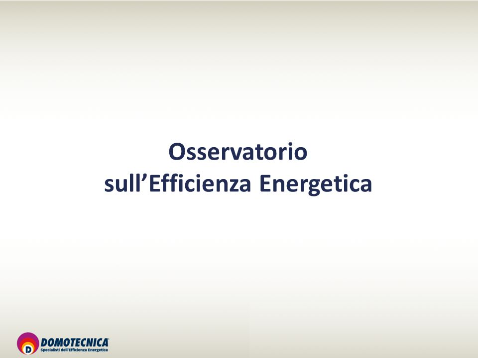 Osservatorio sullEfficienza Energetica