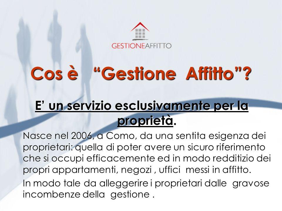 www.gestioneaffitto.it Un servizio innovativo per risolvere ogni problema legato alla locazione