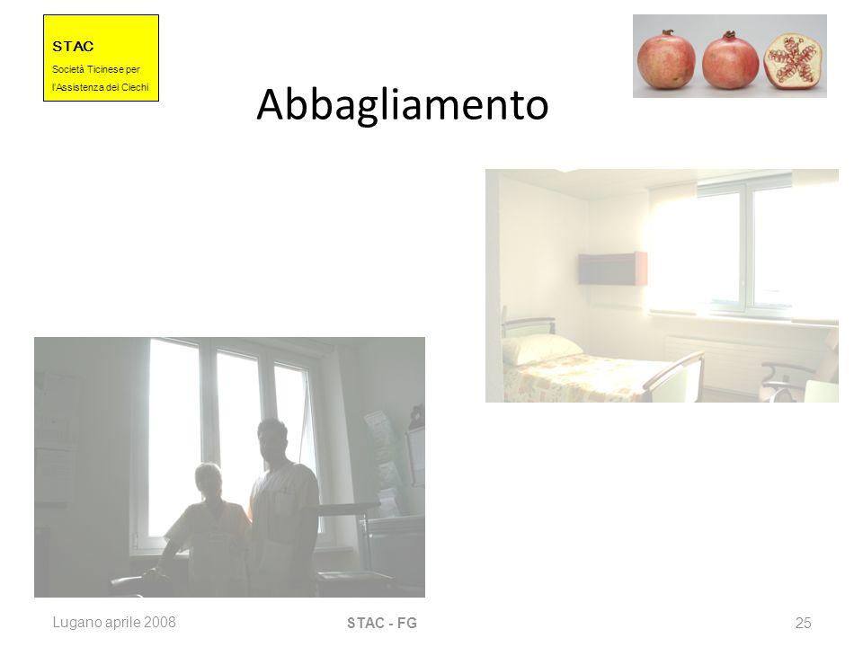 STAC Societ à Ticinese per l Assistenza dei Ciechi Lugano aprile 2008 STAC - FG 25 Abbagliamento