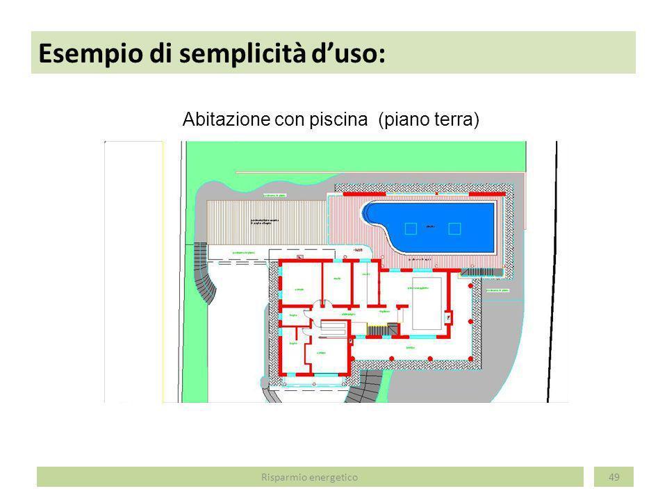 Esempio di semplicità duso: 50 Abitazione con piscina (prospetto sud) Risparmio energetico