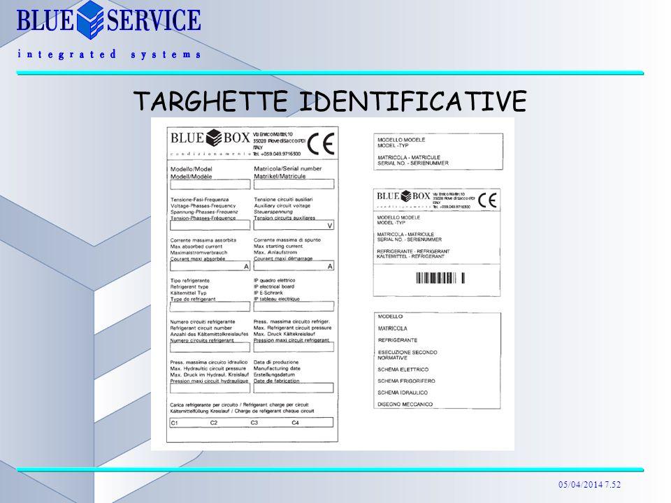 05/04/2014 7.52 TARGHETTE IDENTIFICATIVE
