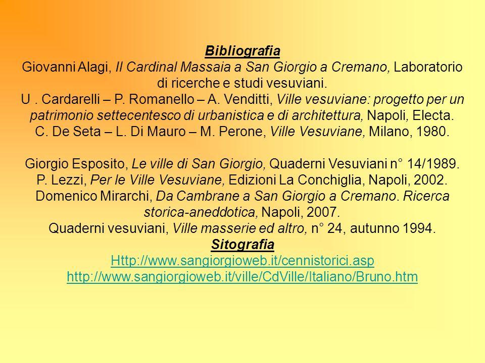 Bibliografia Giovanni Alagi, Il Cardinal Massaia a San Giorgio a Cremano, Laboratorio di ricerche e studi vesuviani. U. Cardarelli – P. Romanello – A.
