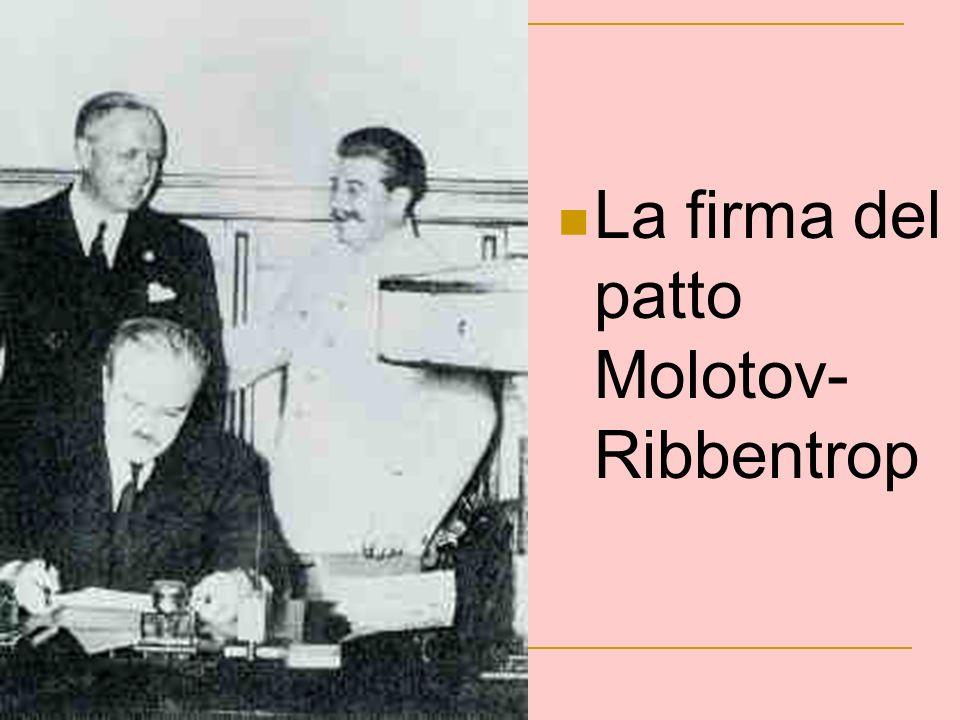 La firma del patto Molotov- Ribbentrop