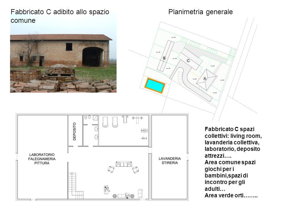 Planimetria generaleFabbricato C adibito allo spazio comune Fabbricato C spazi collettivi: living room, lavanderia collettiva, laboratorio, deposito attrezzi….