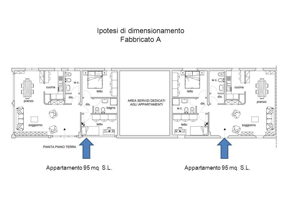 Ipotesi di dimensionamento Fabbricato A Appartamento 95 mq S.L.