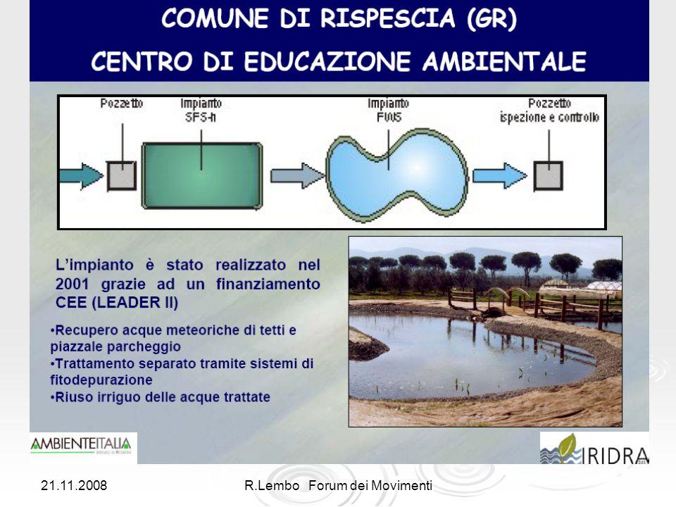 21.11.2008R.Lembo Forum dei Movimenti