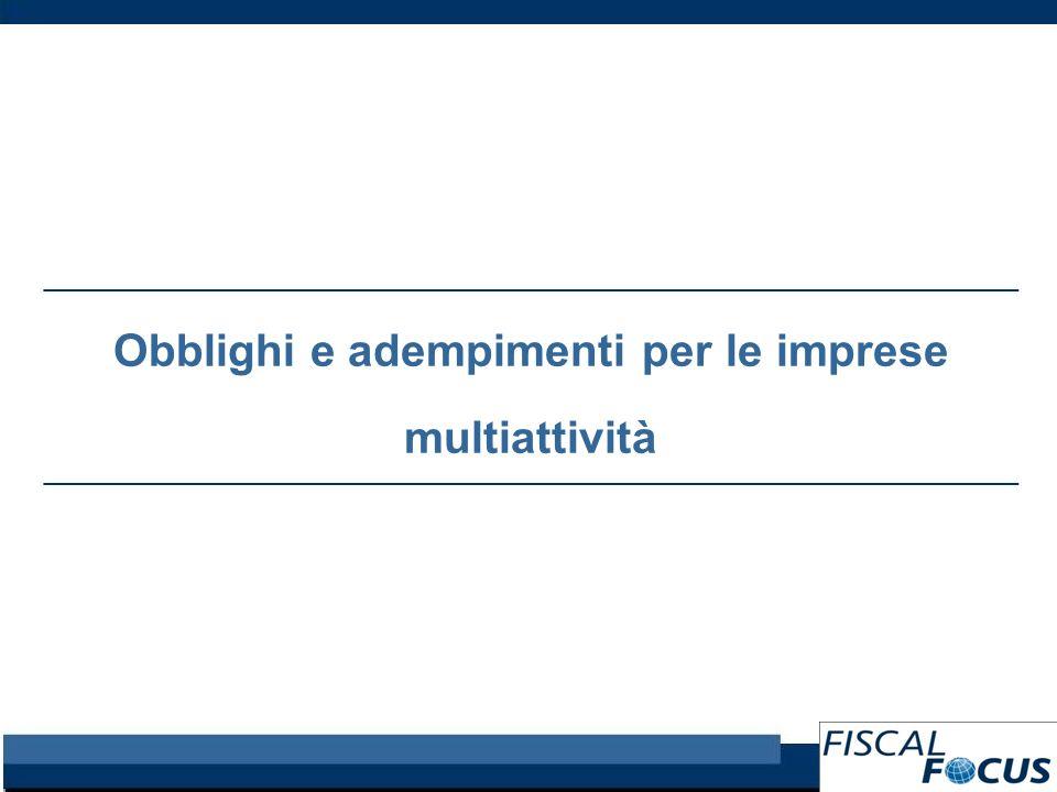 Obblighi e adempimenti per le imprese multiattività