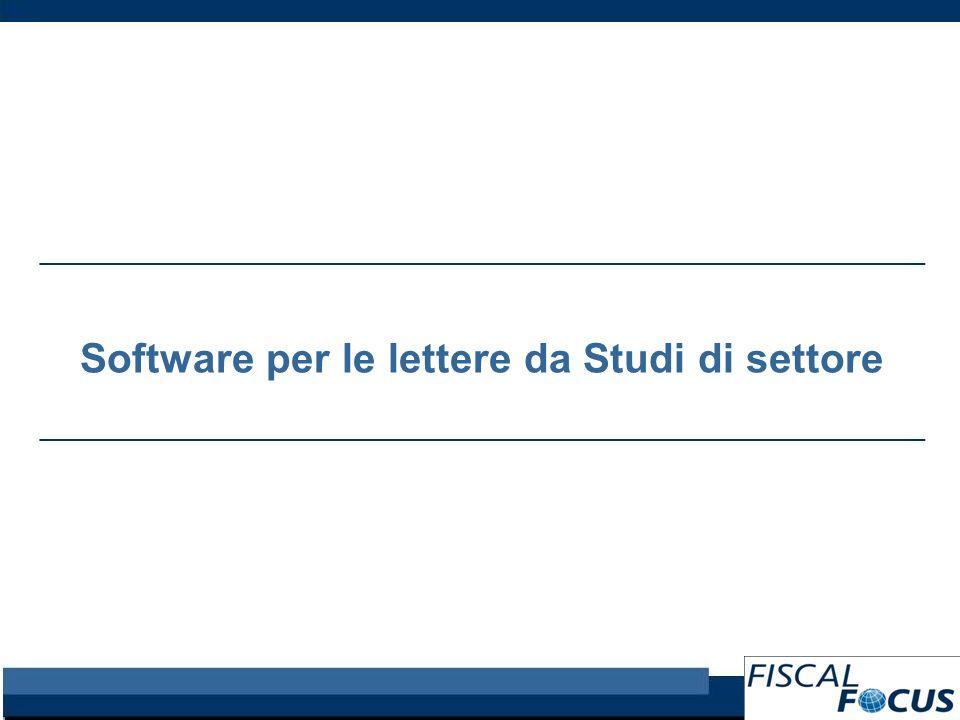 Software per le lettere da Studi di settore