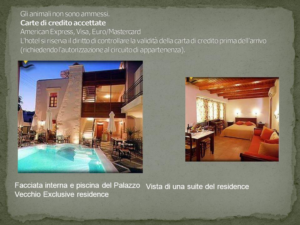 Facciata interna e piscina del Palazzo Vecchio Exclusive residence Vista di una suite del residence