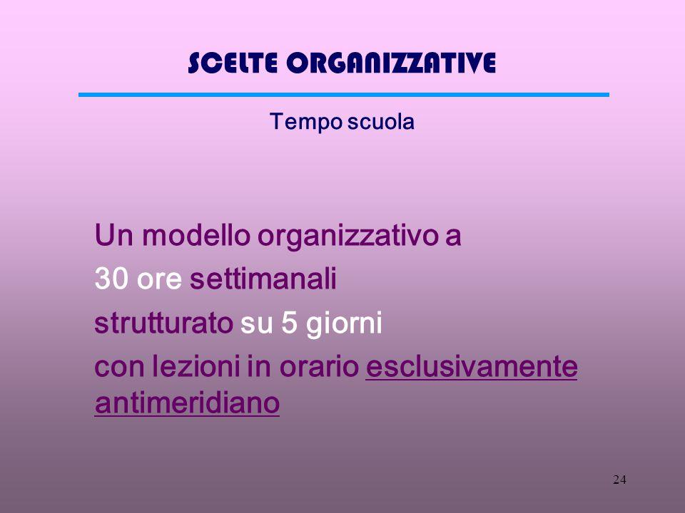 23 AMBITO PROGETTUALE Scelte progettuali organizzative Organizzazione del sistema scolastico Struttura del governo della scuola Norme di funzionamento